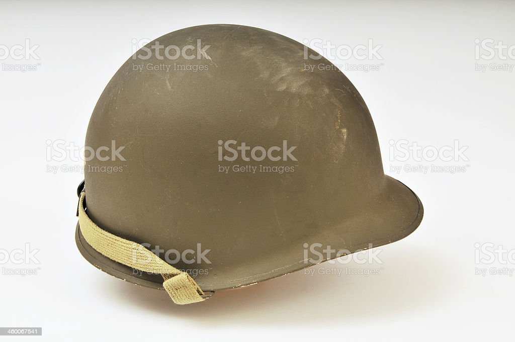 World War Two US Army M1 Helmet stock photo