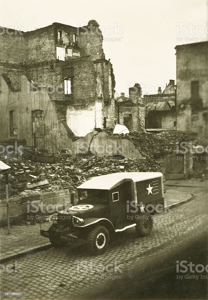 World War Two Weapons Carrier stock photo