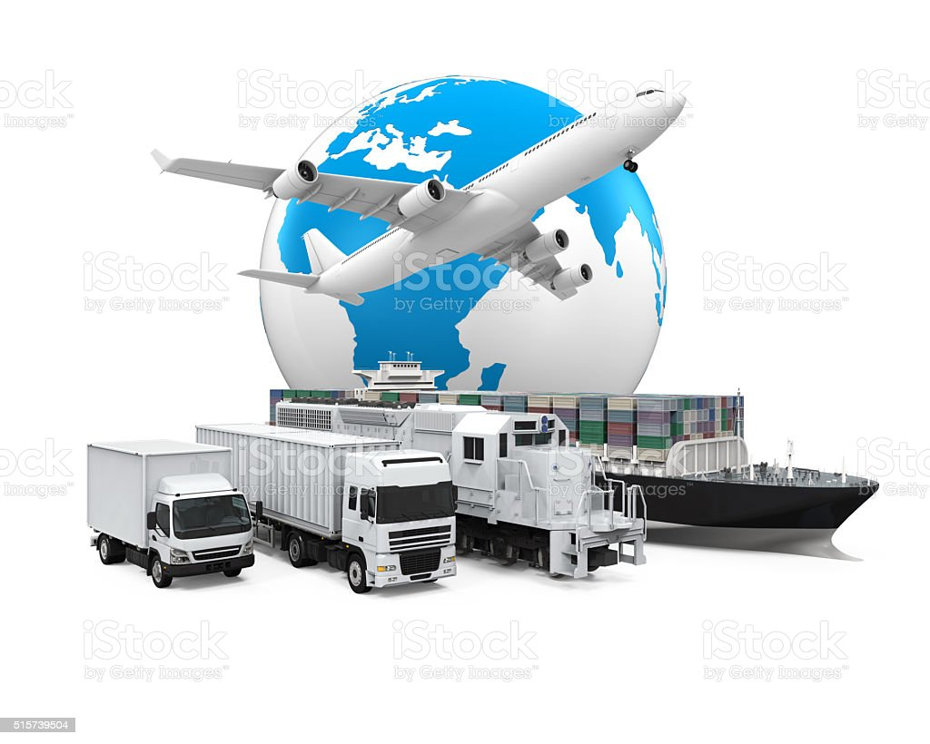 World Wide Cargo Transport stock photo