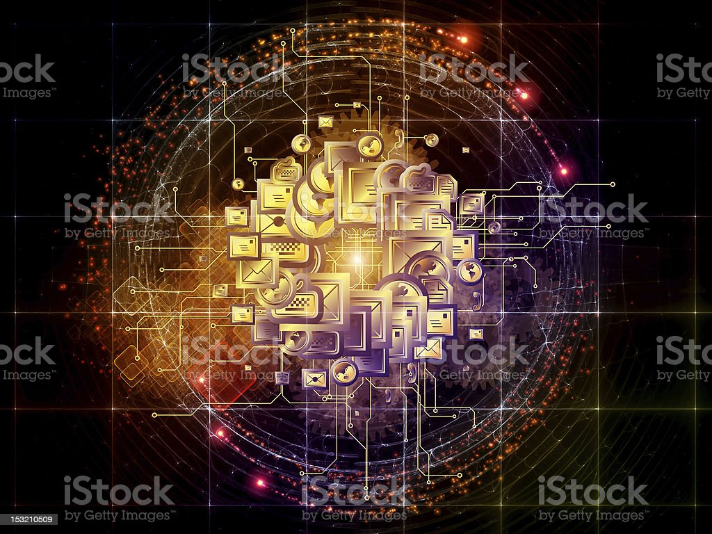 World wide connections royalty-free stock vector art