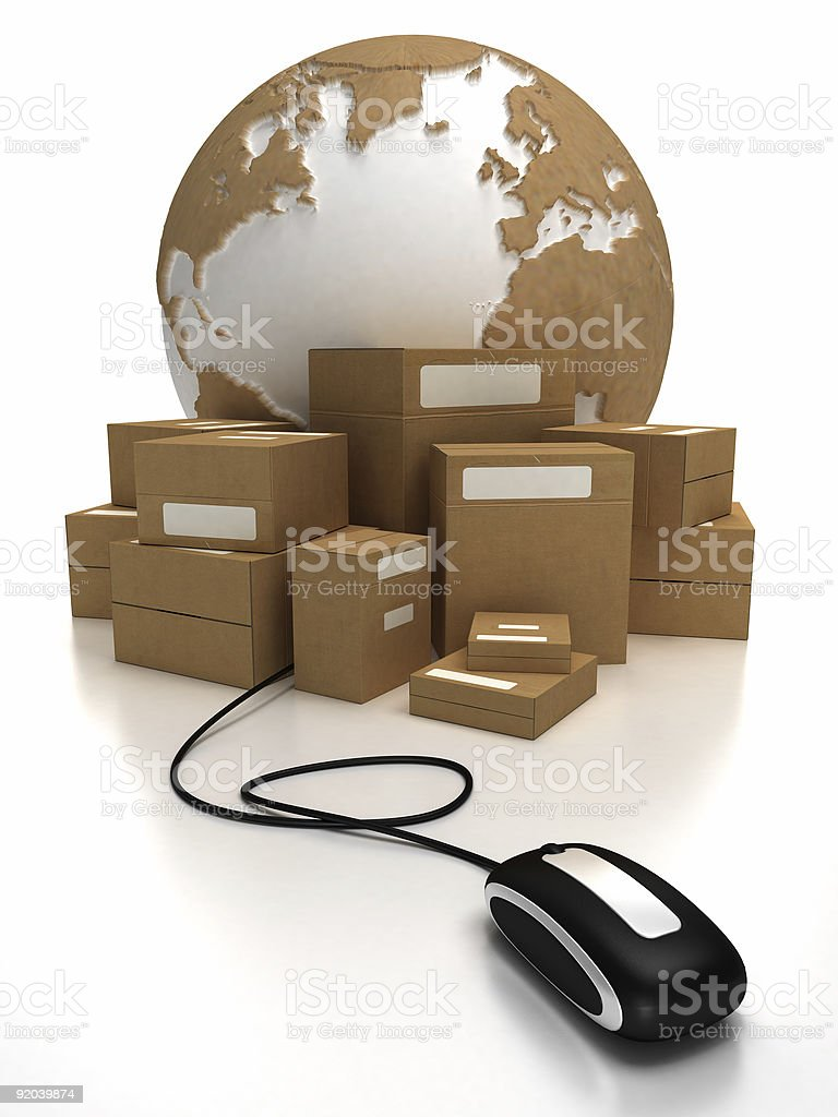 World wide delivery stock photo