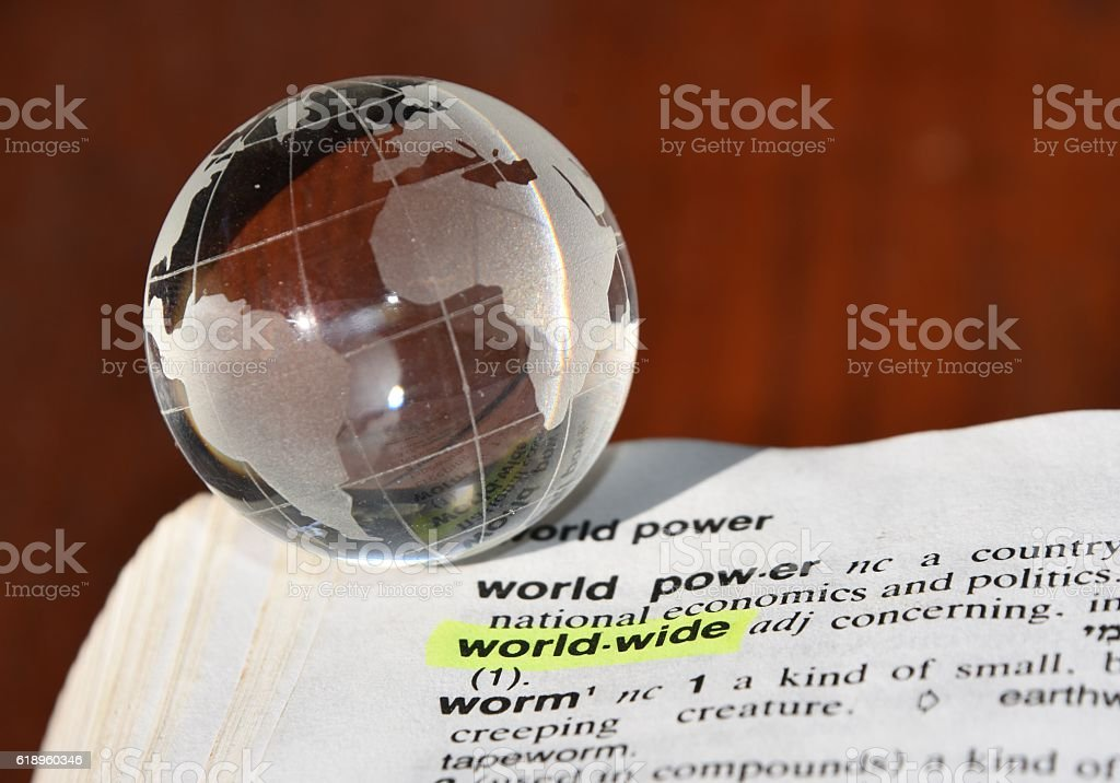 world wide - dictionary definition stock photo