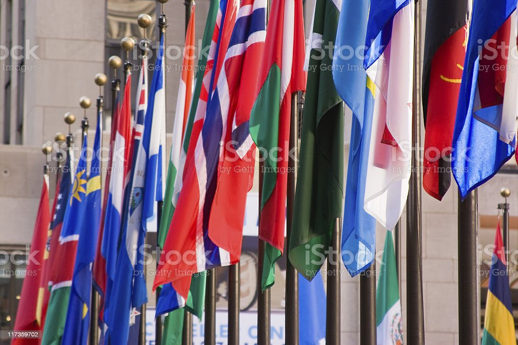 World Wide Flags royalty-free stock photo