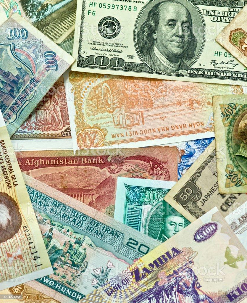 World Wide Money royalty-free stock photo