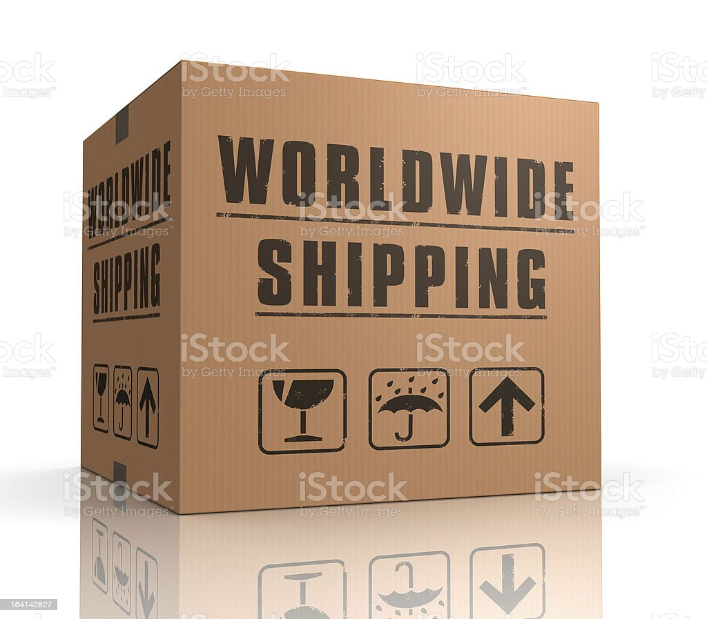 World wide shipping royalty-free stock photo
