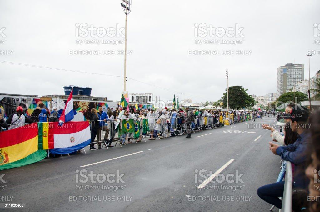 World Youth Day Rio stock photo