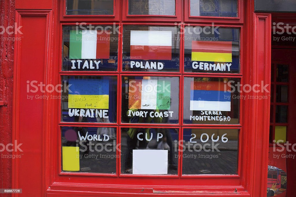 Worldcup window Dublin royalty-free stock photo