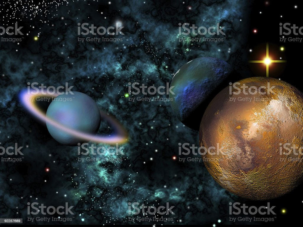 Worlds Colide royalty-free stock photo