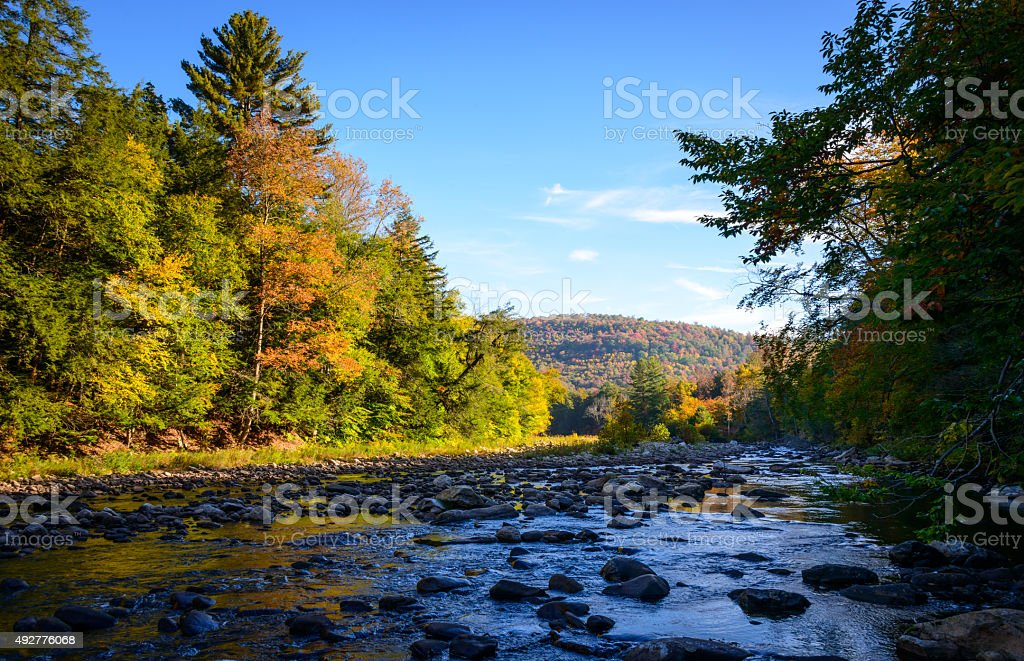 Worlds End State Park stock photo