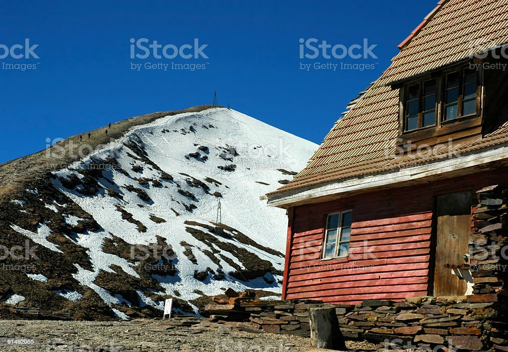 World's highest ski resort royalty-free stock photo