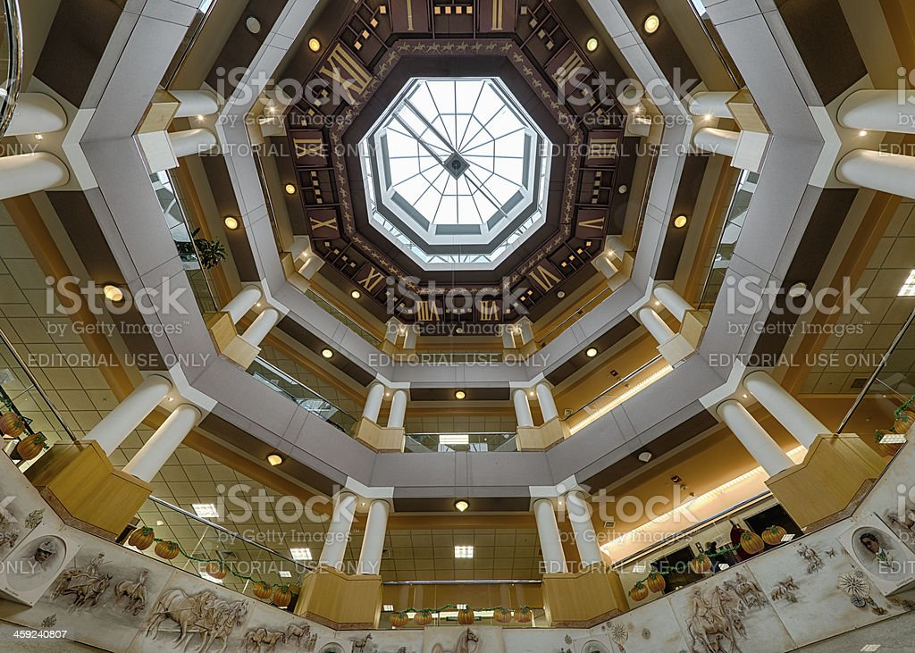 World's largest ceiling clock stock photo