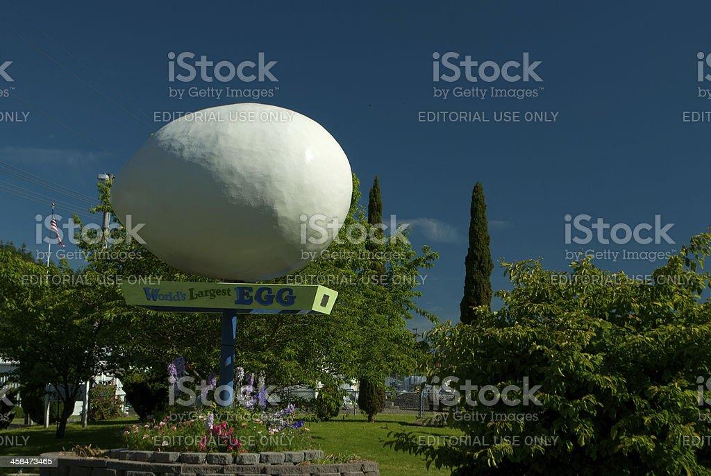 World's Largest Egg stock photo
