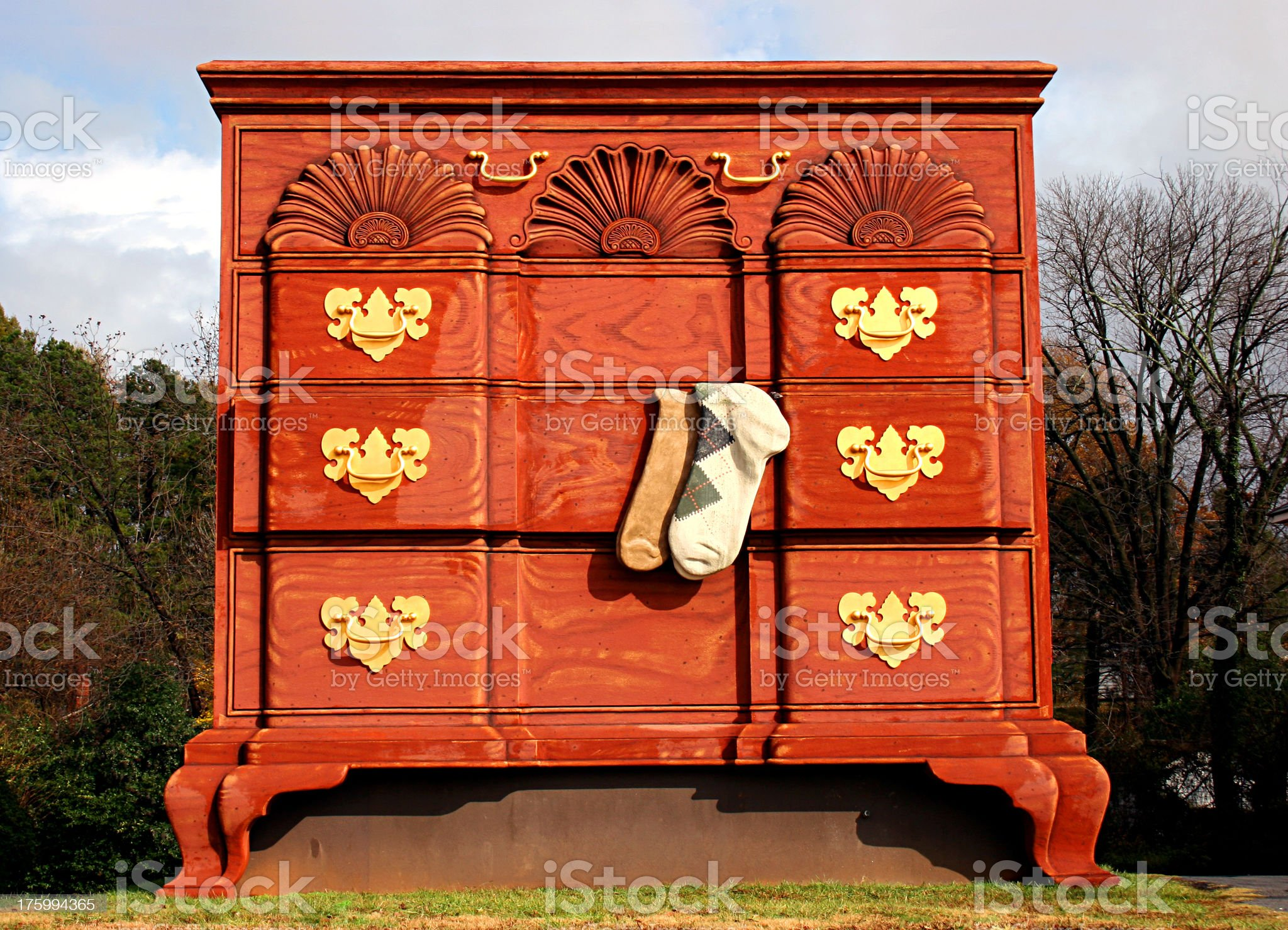 World's Largest Sock Drawer royalty-free stock photo