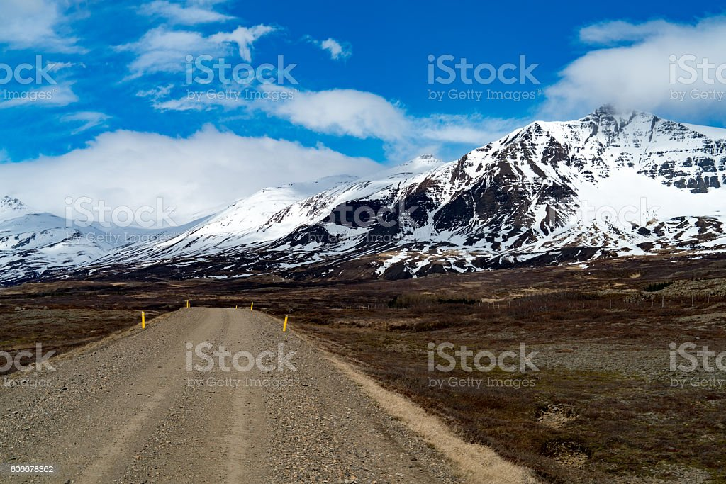 World's most beautiful road trip - Ring Road in Iceland stock photo