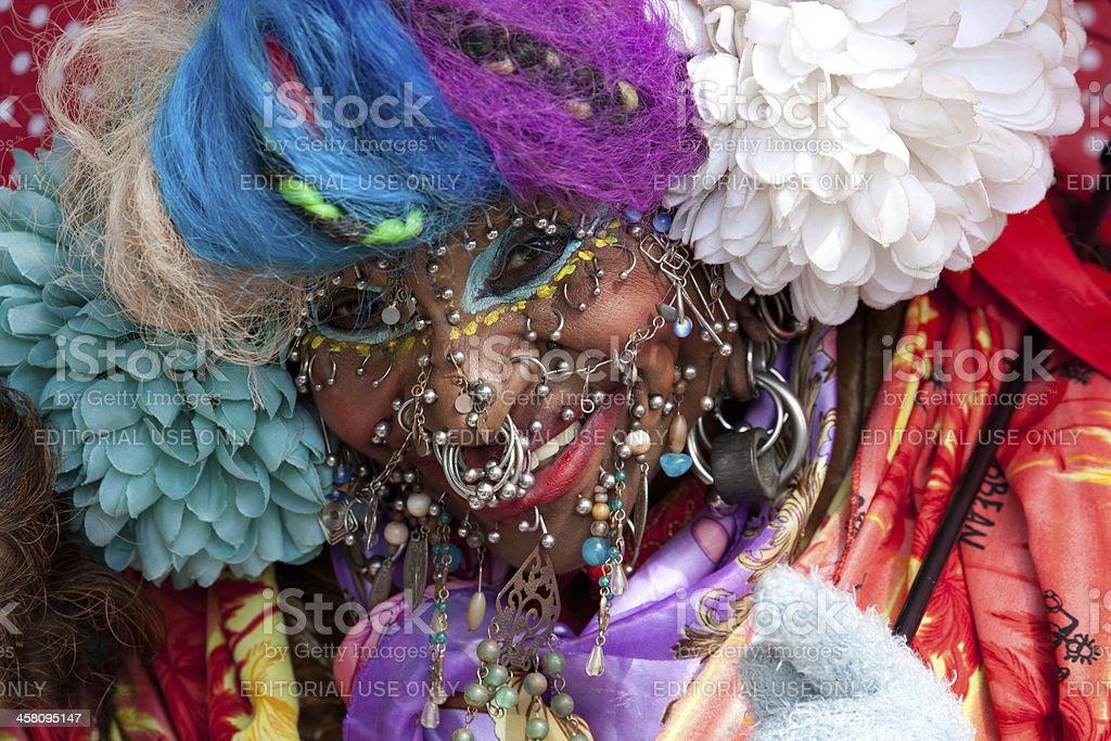 World's most pierced woman stock photo