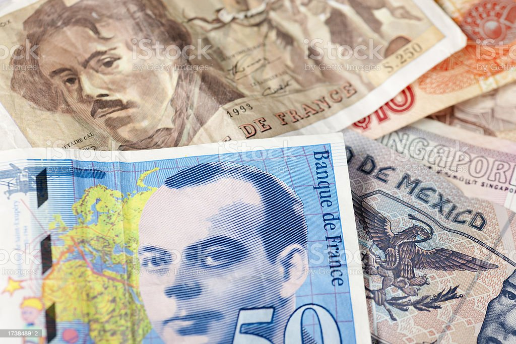 Worldwide Currency, Paper Money, Commerce, Background, Eyes, Face royalty-free stock photo
