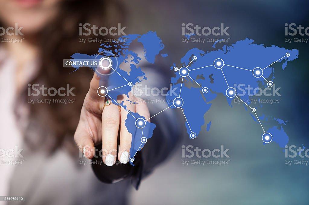 Worldwide customer service support. stock photo