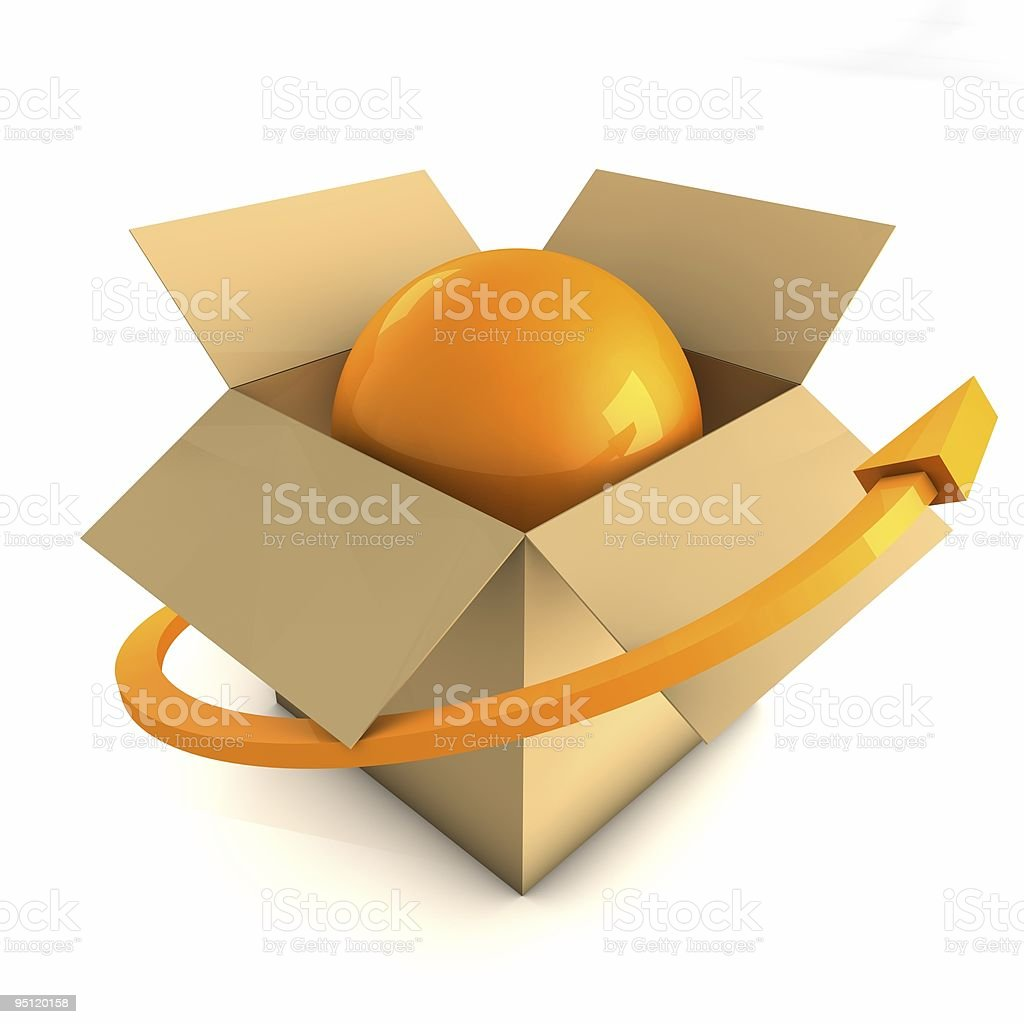 Worldwide Delivery Concept stock photo