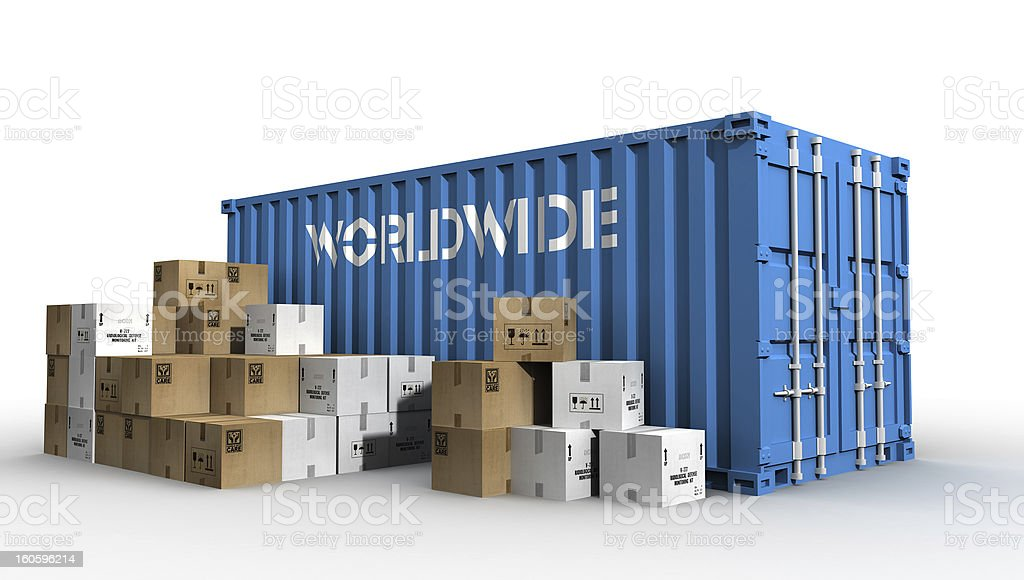 worldwide delivery royalty-free stock photo