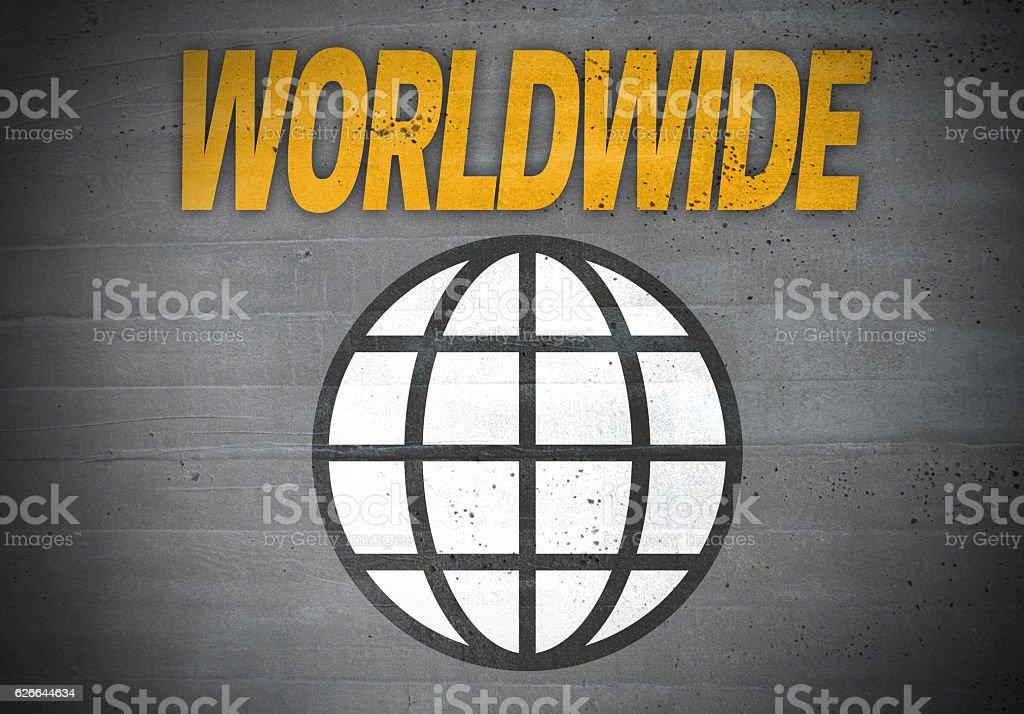 Worldwide globe icon concept background stock photo
