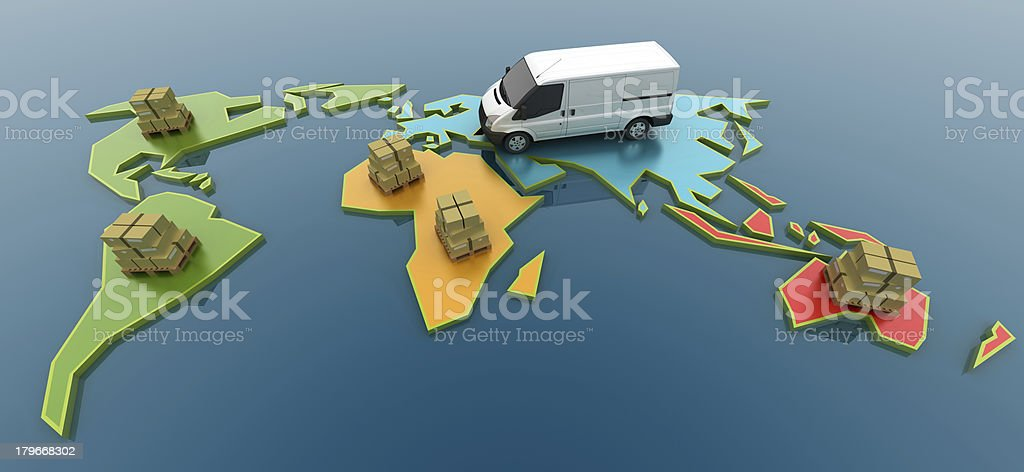 Worldwide Logistics Concept stock photo