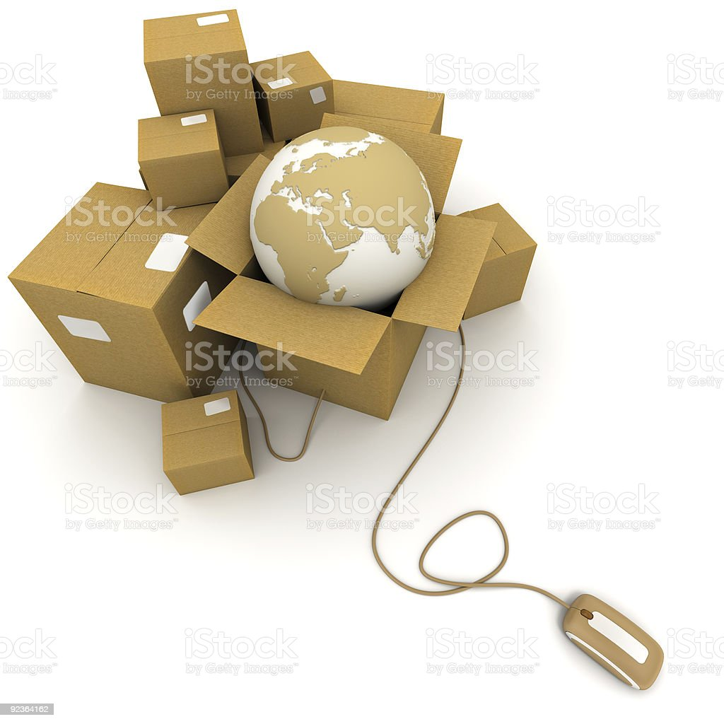 Worldwide online logistics royalty-free stock photo