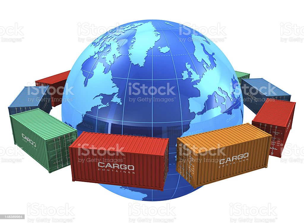 Worldwide shipping concept stock photo