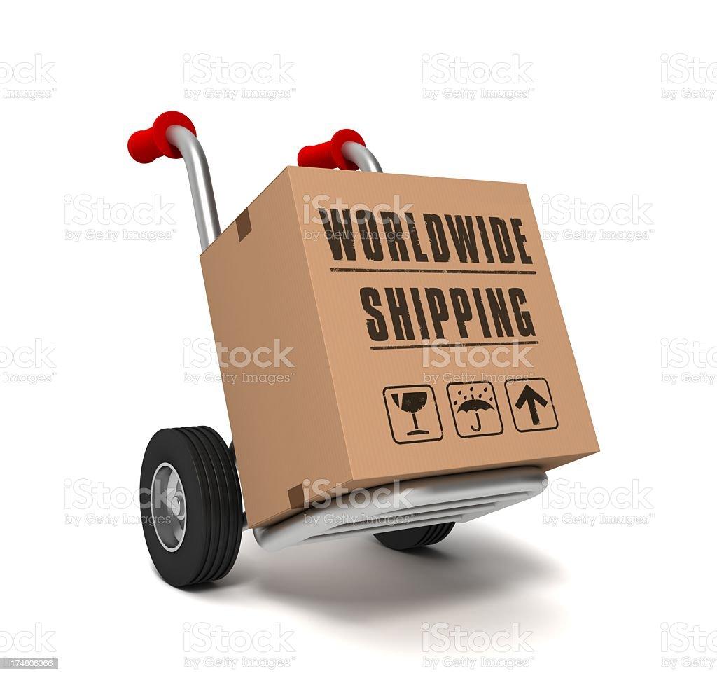 Worldwide shipping royalty-free stock photo