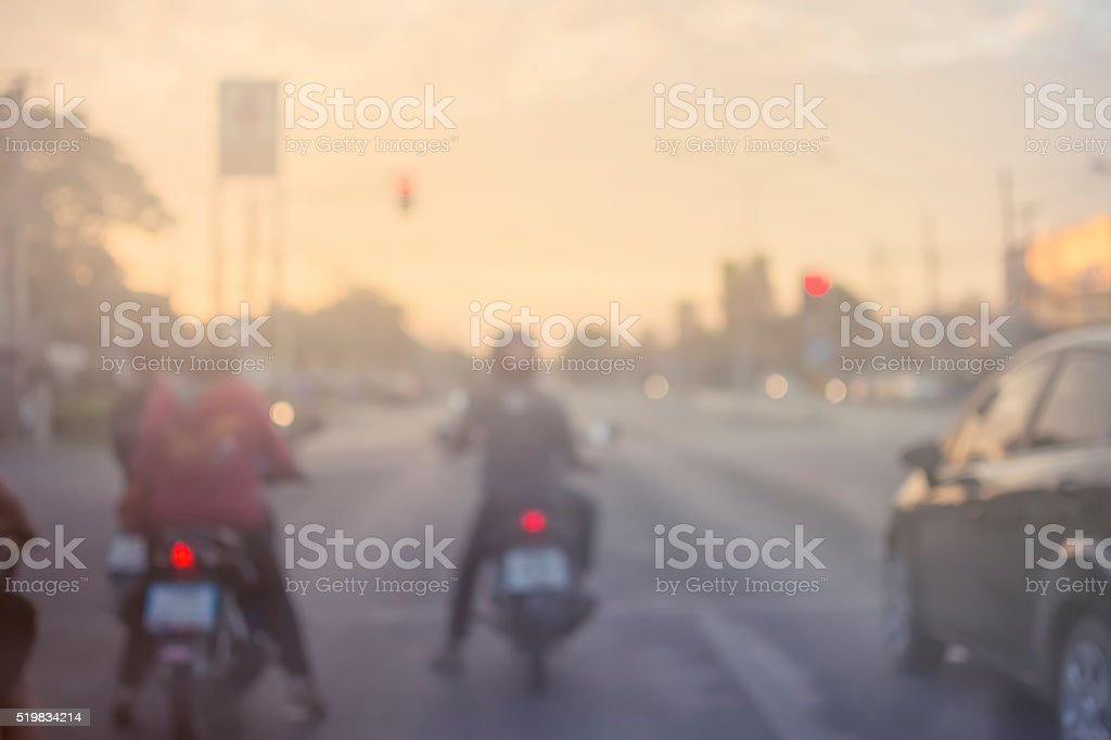 worm tone out of focus s running car and motorcycles stock photo