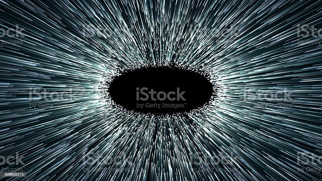 wormhole, abstract scene fliy in space stock photo