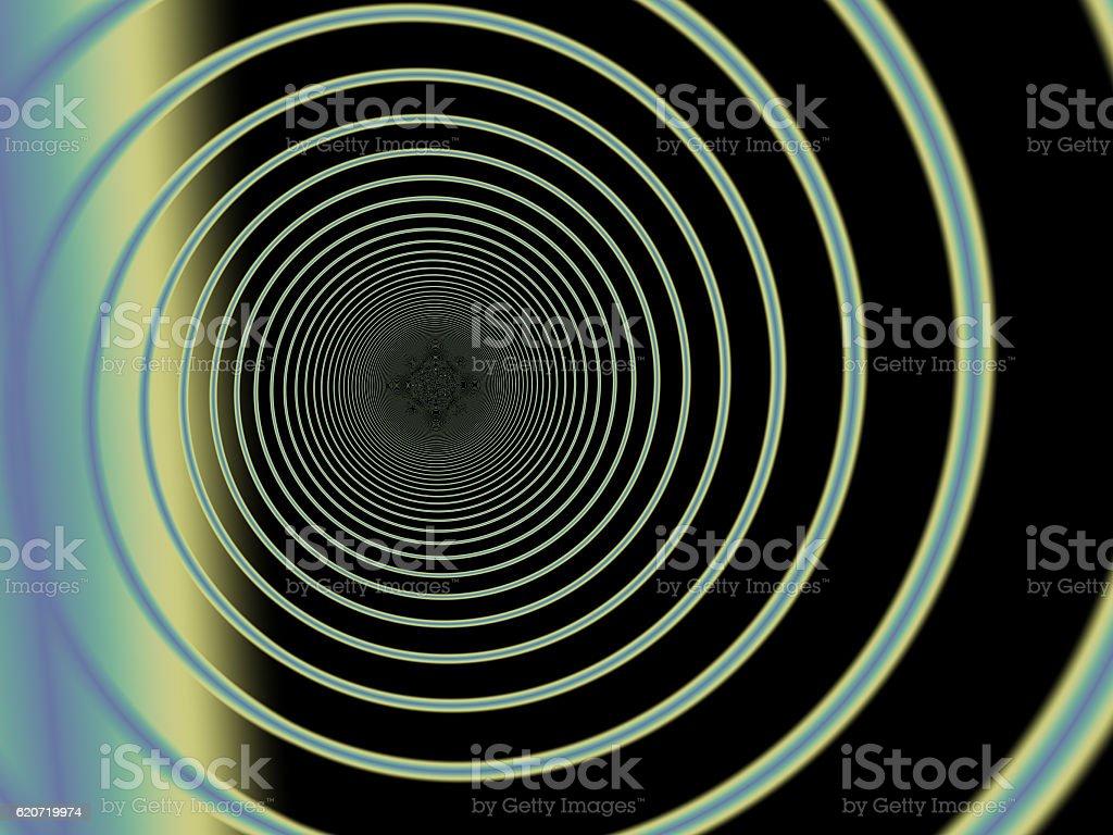 Wormhole fractal stock photo