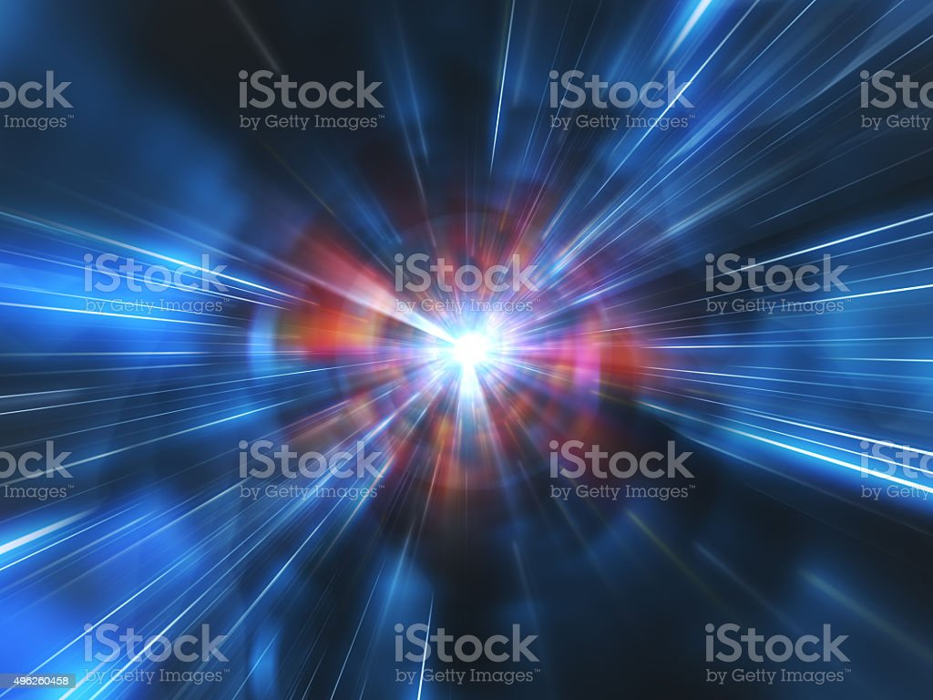 Wormhole Space Time Tunnel stock photo