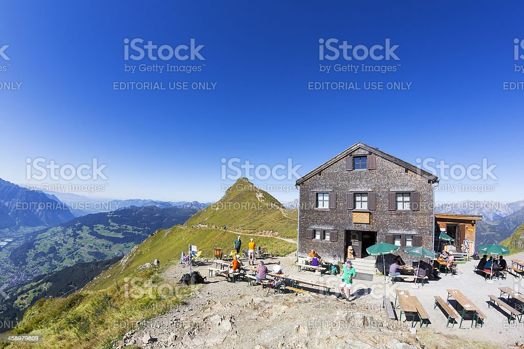 Wormser Alpine Hut royalty-free stock photo