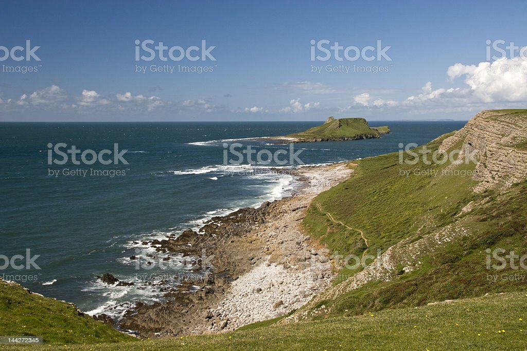 Worms Head Gower South Wales royalty-free stock photo