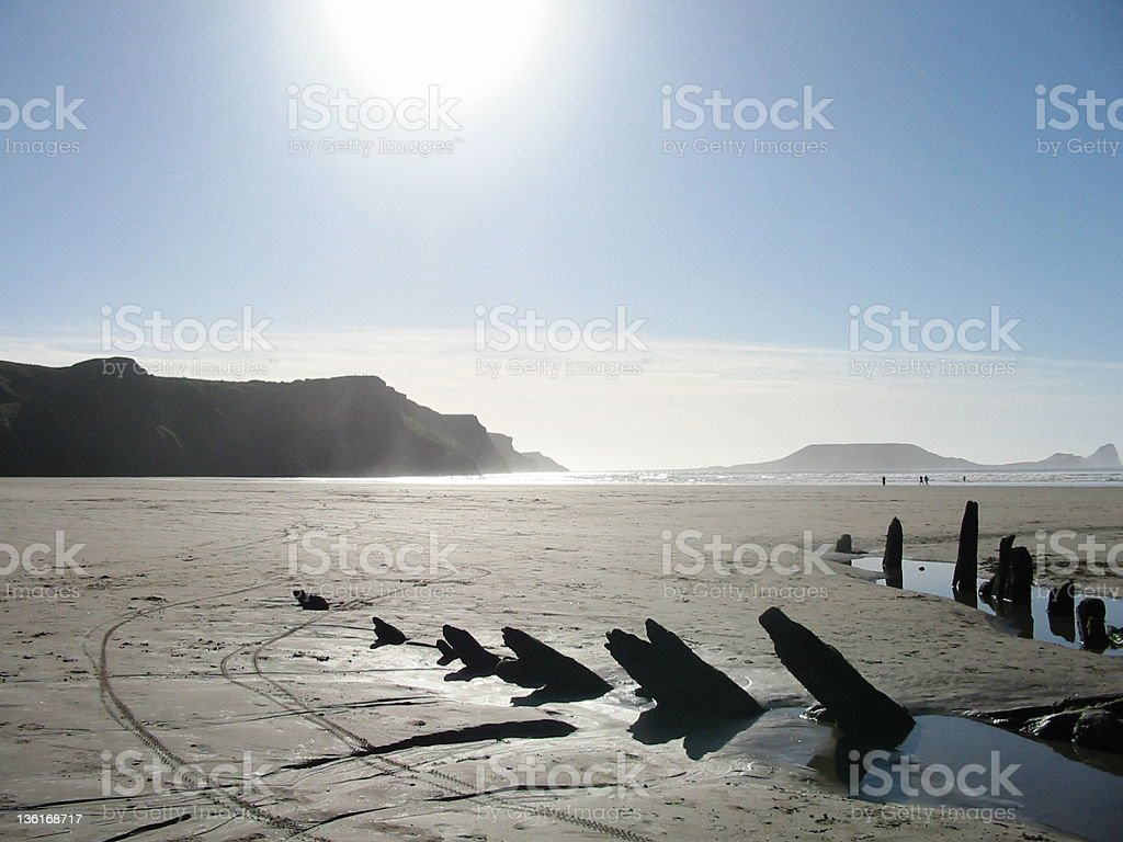 Worms Head Wreck royalty-free stock photo