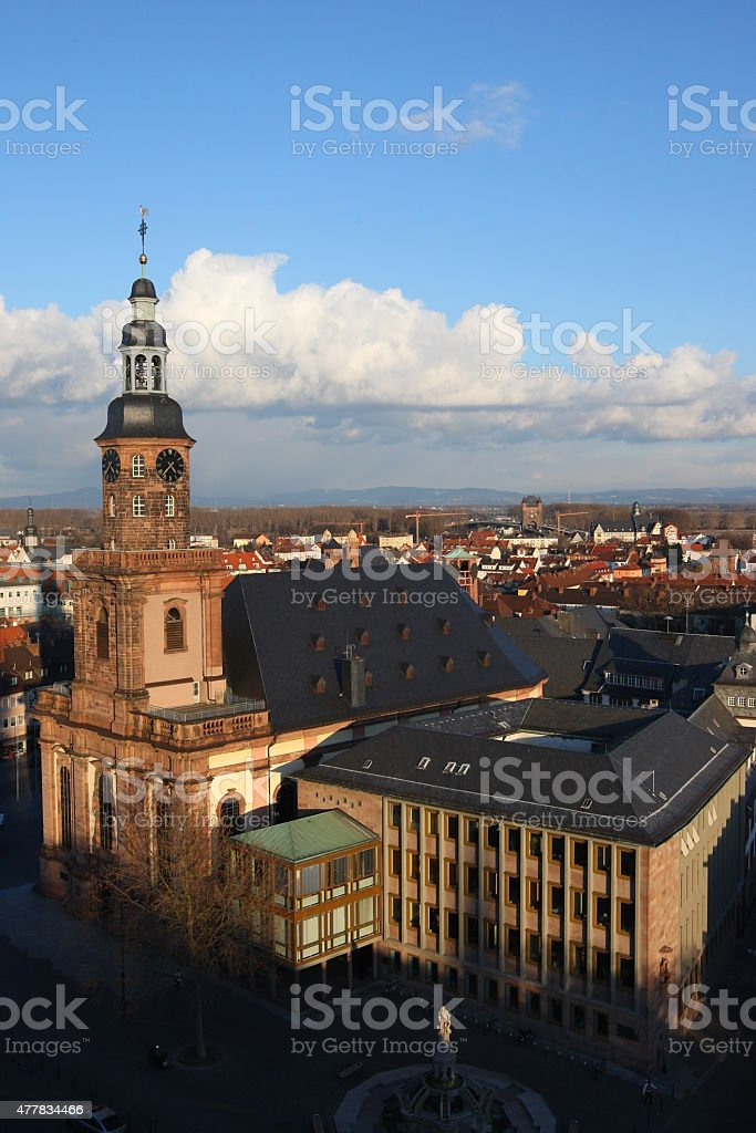 Worms with holy trinity church stock photo