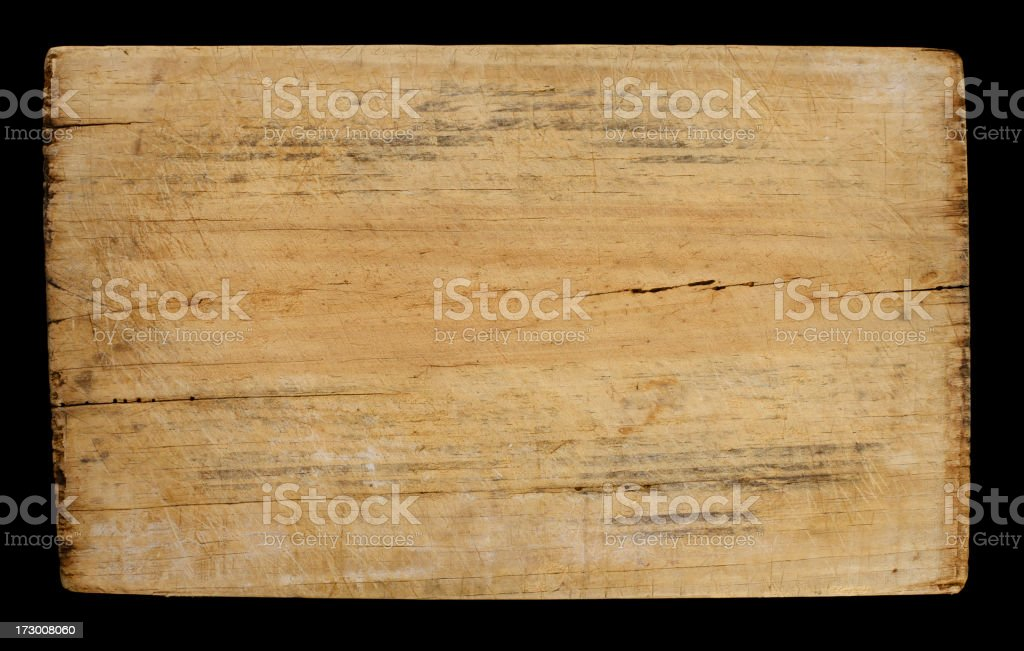 worn and distressed wood block royalty-free stock photo