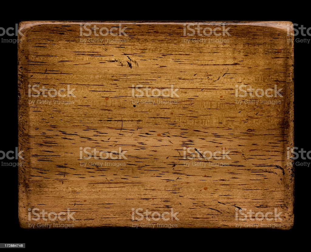 worn and distressed wood sign royalty-free stock photo