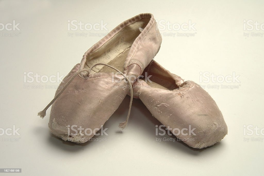 Worn ballet shoes royalty-free stock photo