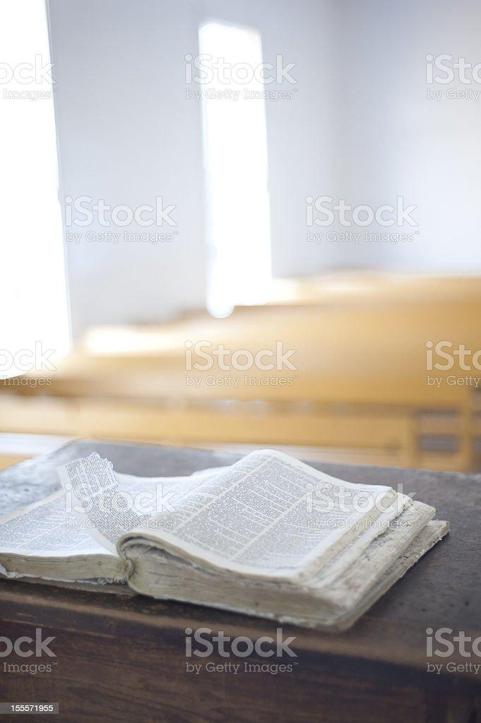 Worn Bible stock photo