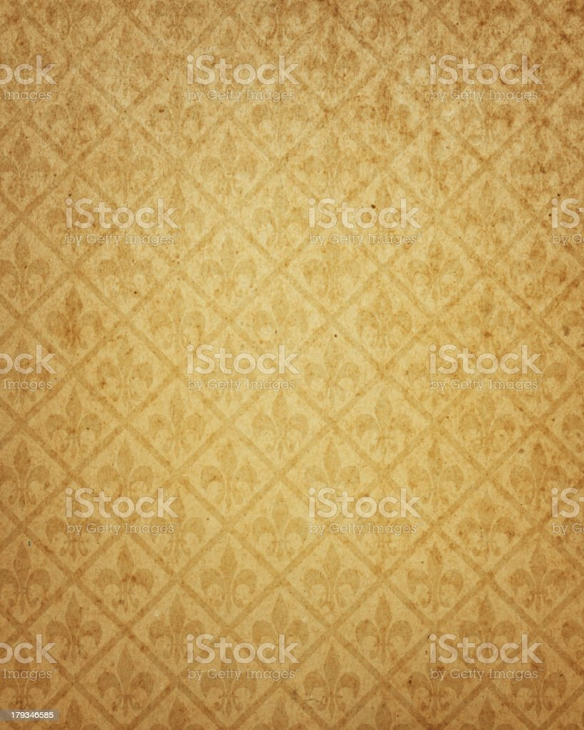 worn brown paper with symbol stock photo