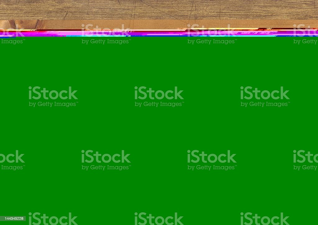 Worn Butcher Block royalty-free stock photo