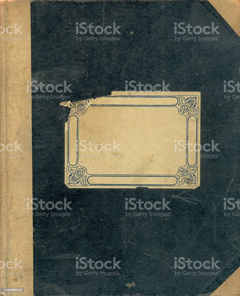 Worn cover of an antique notebook stock photo