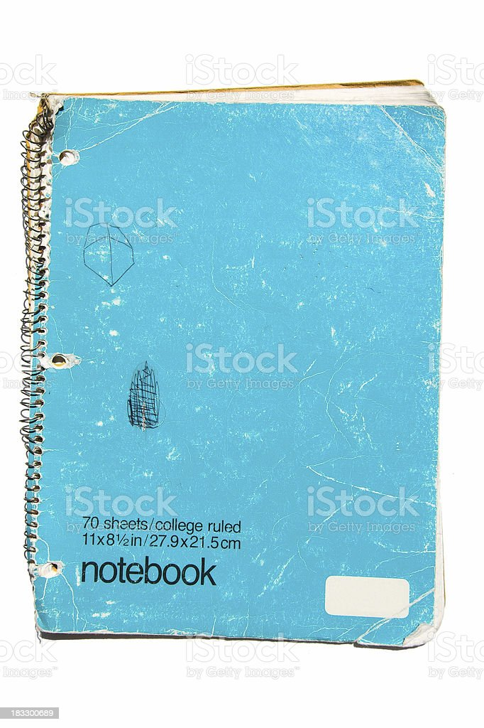Worn Eighties Notebook stock photo