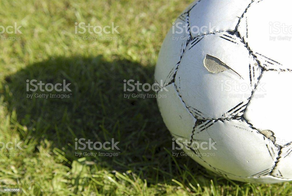 Worn football royalty-free stock photo