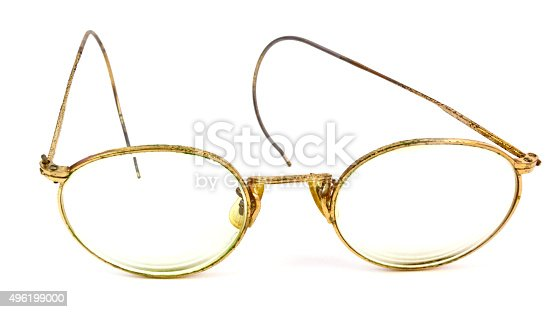 worn gold wire frame glasses stock photo 496199000 istock