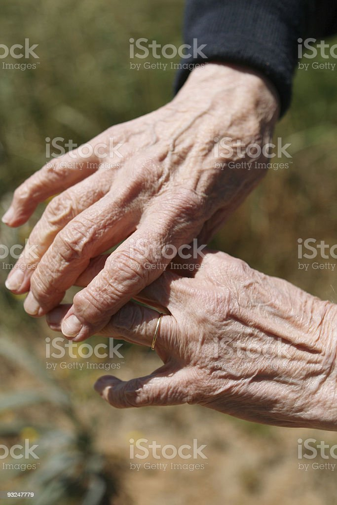 Worn Hands royalty-free stock photo