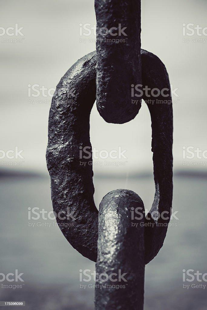 Worn Link stock photo