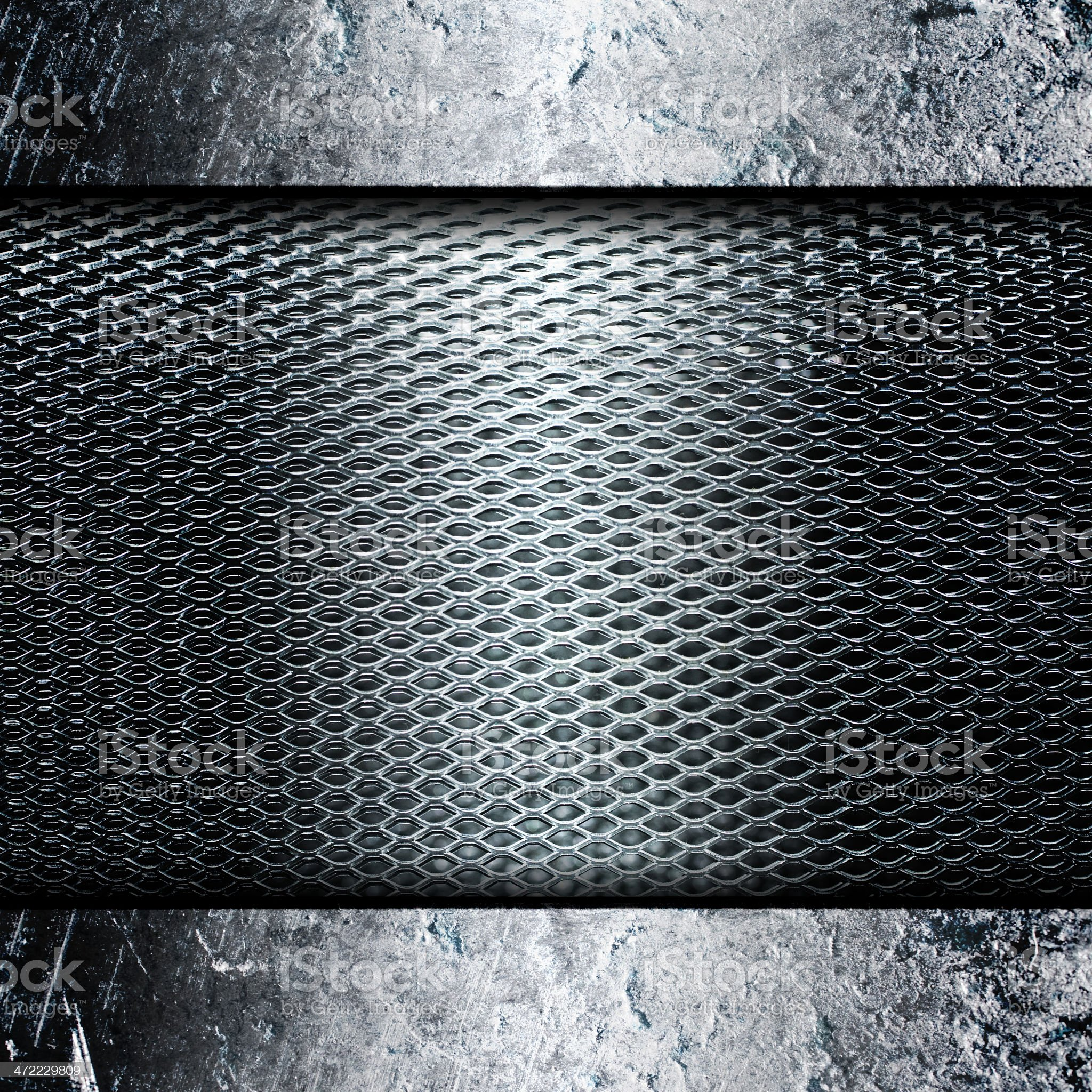 Worn metal plate royalty-free stock photo