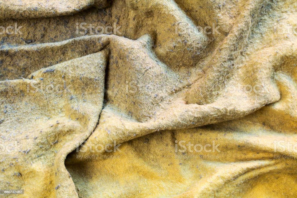 Worn Old Duster Cloth Close Up stock photo